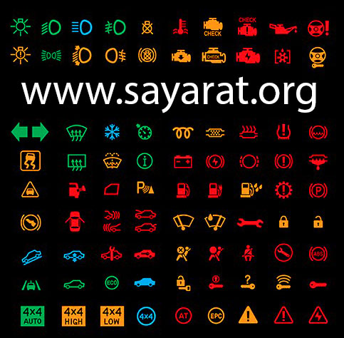 علامات طبلون السيارة وتفسير معانيها Www Sayarat Org