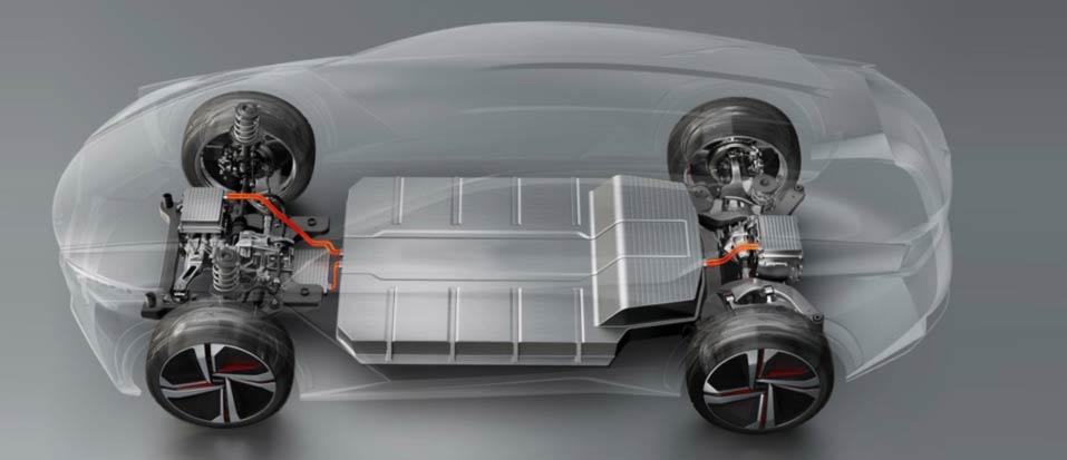مكونات السيارة الكهربائية